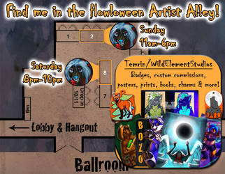 Howloween Artist Alley! by Temrin