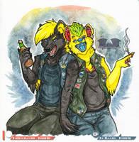 Fur-Eh - Sharpie  Konar Watercolour by Temrin