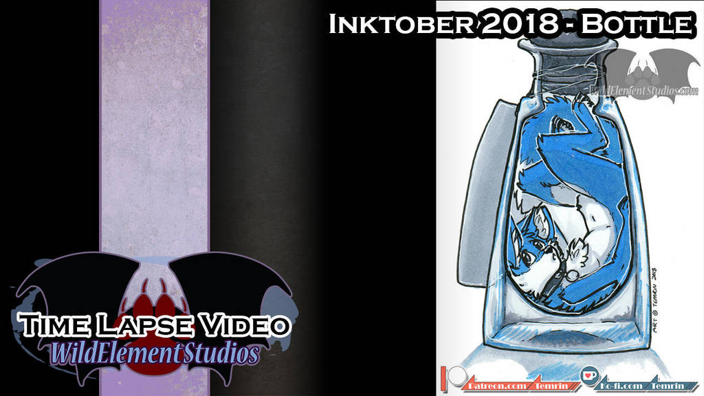 [VIDEO] - Inktober 2018 - Bottle/Bozo by Temrin