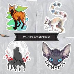 Sticker Sale! by Temrin
