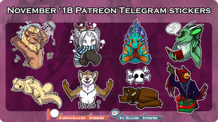PTR - Nov Telegram Stickers by Temrin