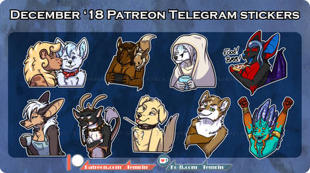PTR December Telegram Stickers by Temrin