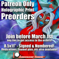 Holographic Print Preorders by Temrin