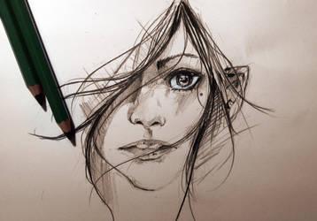 graphite sketch by Vanguard204