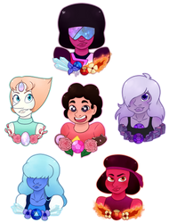 We Are The Crystal Gems by NatsArtAndCreations