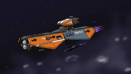 Orange Spaceship by ScottaHemi