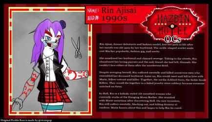 Hazbin AU: Rin Ajisai by R-Doll