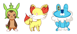 Pokemon XY Trio by darIing