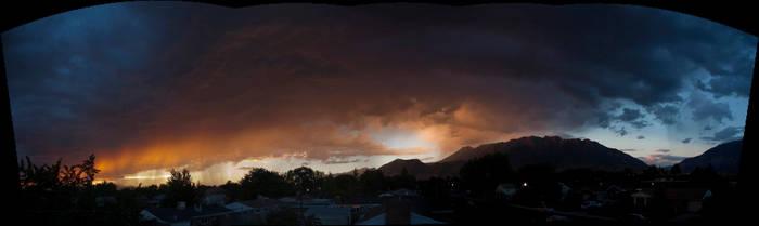 Thunder Sunset Panorama by CheiftainMaelgwyn