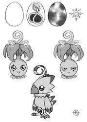 Biyomon Sketches by CheiftainMaelgwyn