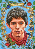 Anglo-Saxon Merlin by ObsidianSerpent
