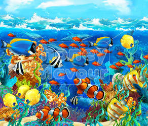 Coral reef by honeyflavourcom