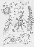 Alien animals 1 by Franxurio