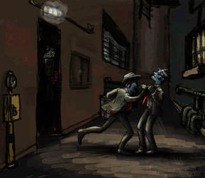 Ghost Trick - Back Alley Brawl by mistress-samwise