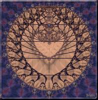 Heart Mandala by Brigitte-Fredensborg