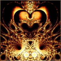 Golden golden heart by Brigitte-Fredensborg