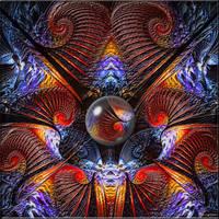 Spirals and a bubble by Brigitte-Fredensborg