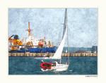Photo Manip 'Sailing Boat' by Brigitte-Fredensborg