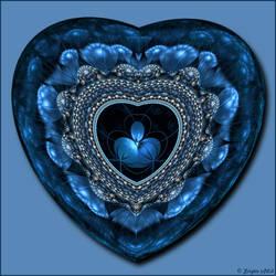 Blue Valentine by Brigitte-Fredensborg