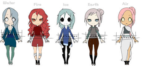 Elements Naruto Adopts[5/5 Open] by xReinachan