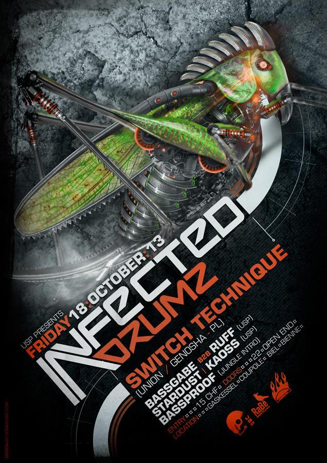 Infected Drumz VIII by donanubis