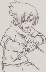 Sasuke Nyaah :3 by LacrimosaKiss