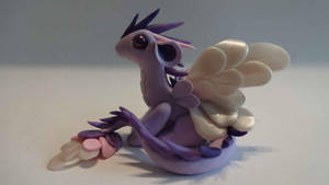 Dragon ange mauve by krisclay74