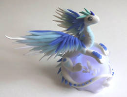 Dragon bleu et blanc by krisclay74