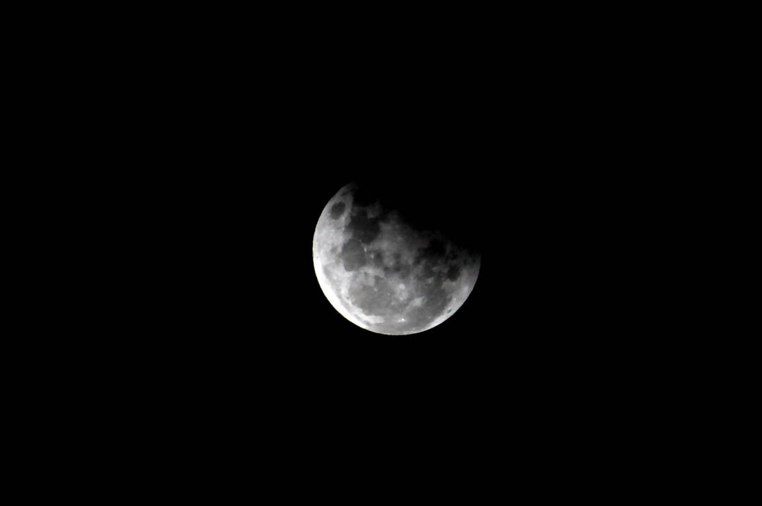 Partial Lunar Eclipse 8 by TarJakArt