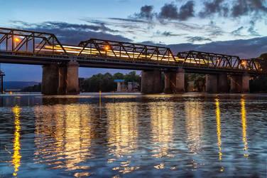 Rail Bridge over the Nepean by TarJakArt