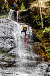 Abseiling at Empress Falls by TarJakArt