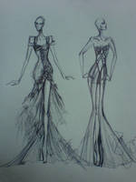 Goldina and Emerelda gown by AlexioLex
