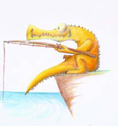 Crocodile Fishin by ImRazil