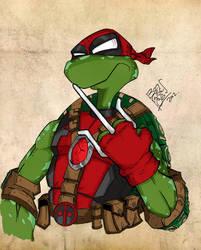 What if the fifth turtle was Deadpool ?? by LloydBridgeman