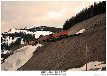 BNSF 4492, 1080 and 44?? by hunter1828