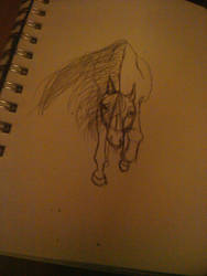 horse sketch by GordyLuv