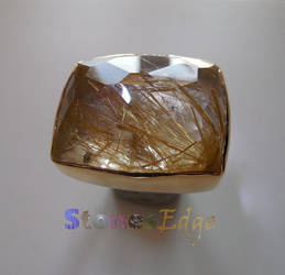 Rutilated Quartz Ring (handmade) by StonesEdge
