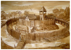 Early Medieval Fortress  by Sedeslav