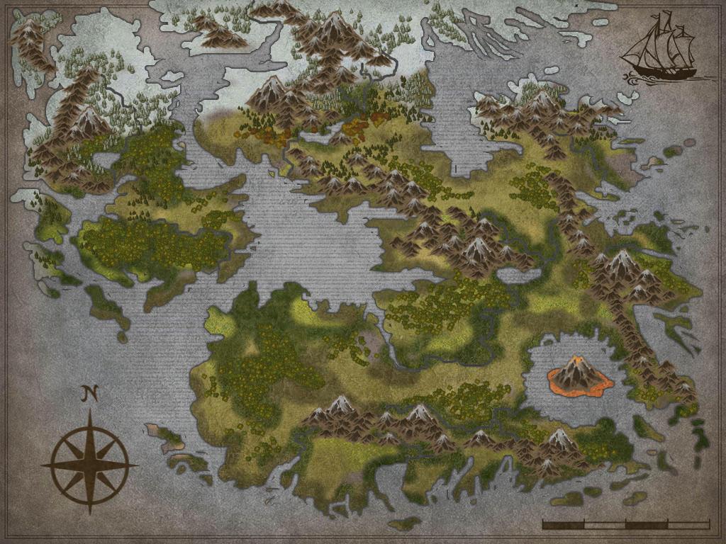 New blank fantasy Map by Sedeslav