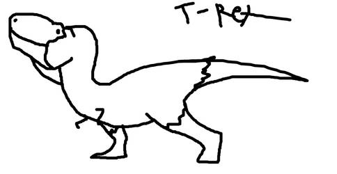 T-rex by KaprosuchusDragon
