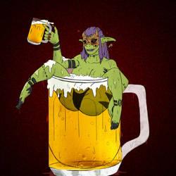The drunken demon by scorp29