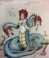 Day 4- Naga (Hydra) by Mezzeril