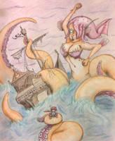 Day 8- Octomaid (Kraken) by Mezzeril