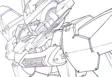 Gundam Exia Line art by mostlymade