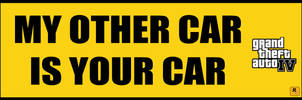 Grand Theft Auto Bumpersticker by mostlymade