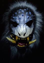 Boar Demon mask  Snow Beast edition by mostlymade