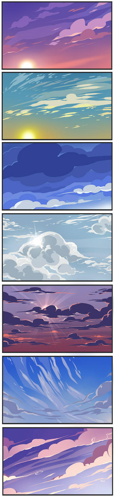 Sky practice by Drkav
