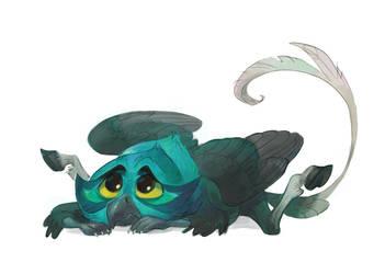 Chibi hippogriff by Drkav