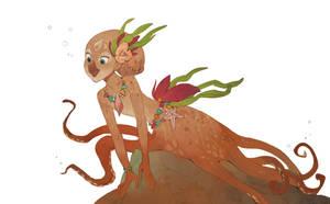 Octopus mermaid by Drkav