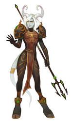 Draenei warrior by Drkav